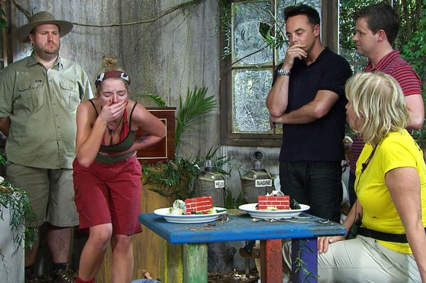 Im a celebrity bushtucker trials eating well