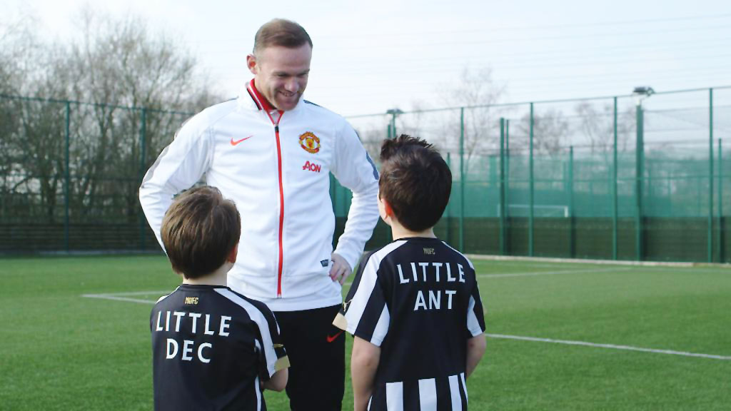 Little Ant & Dec make Wayne Rooney break a sweat during interview!