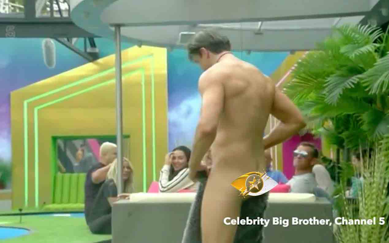 celebrity big brother 2016 lewis flashes penis chloe
