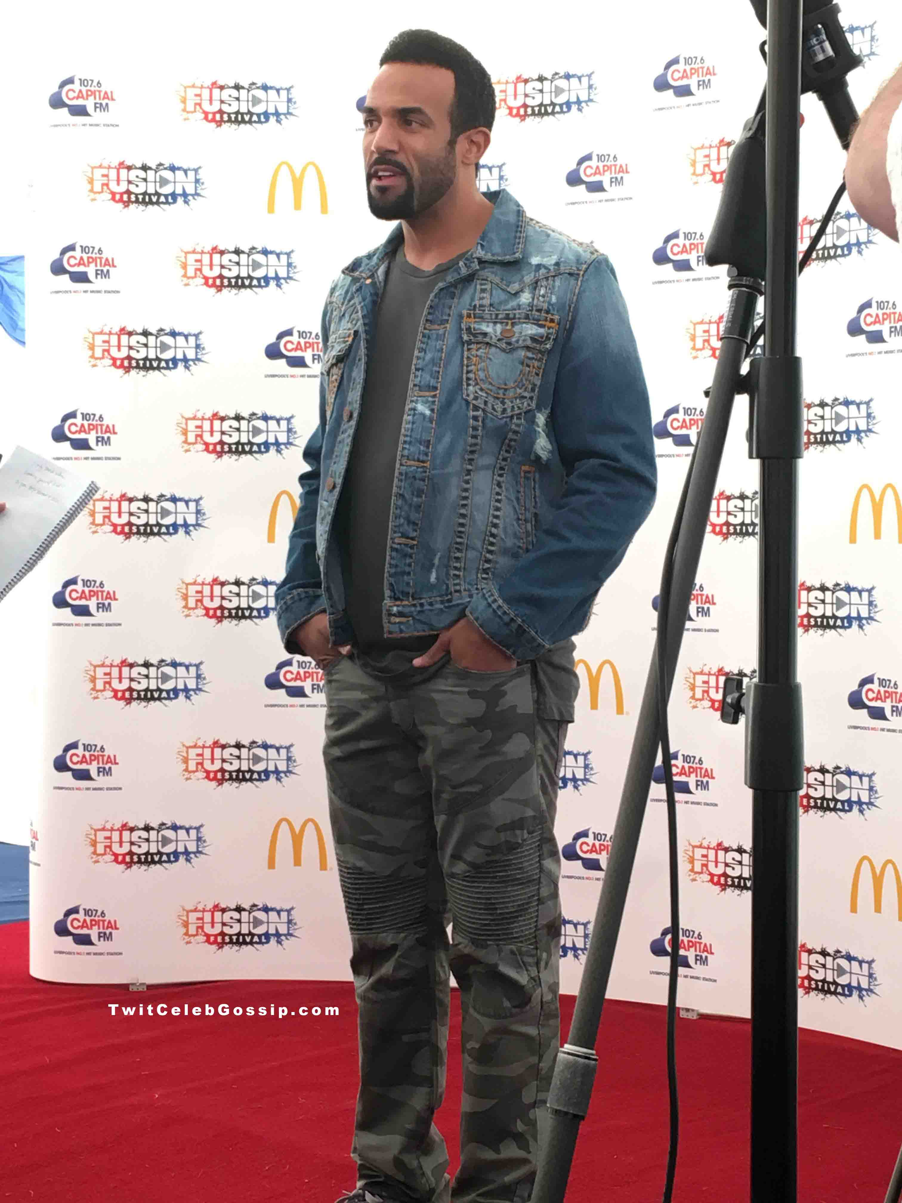 Craig David taking part in an interview at Fusion Festival