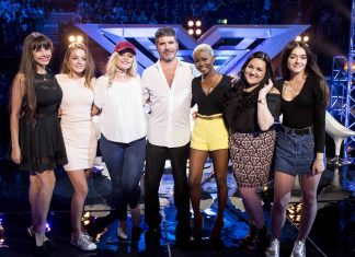 X Factor 2016: Simon Cowell with his final six girls.