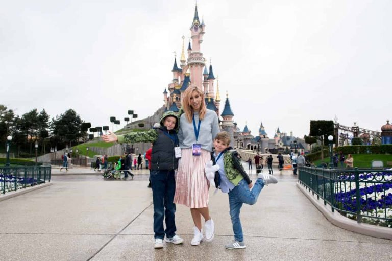 Famous faces jet off to Disneyland Paris with their families for the 25th anniversary celebrations!