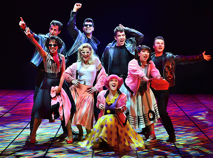 grease musical cast theatre hippodrome birmingham tour word 70s dublin liverpool birds bang london ladies pink plymouth studio coltas paul