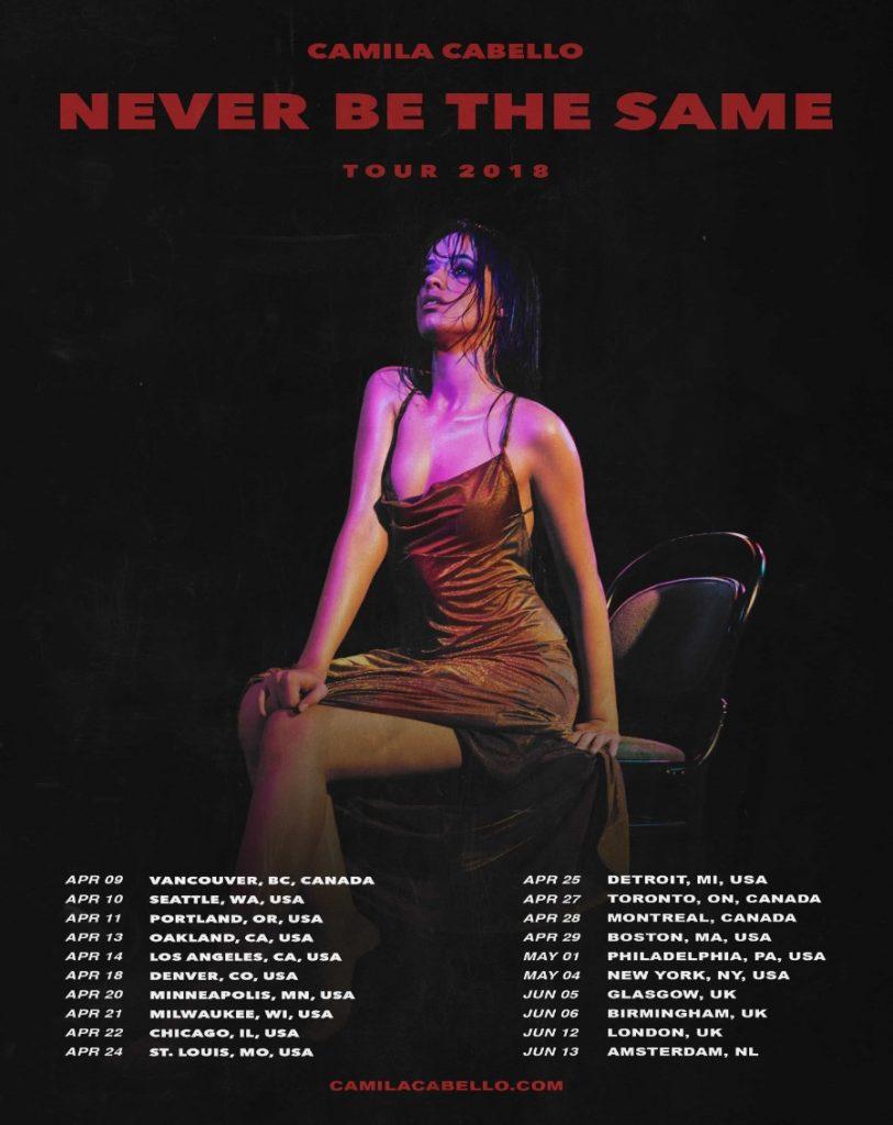 Camila Cabello Announces 'Never Be The Same' Tour