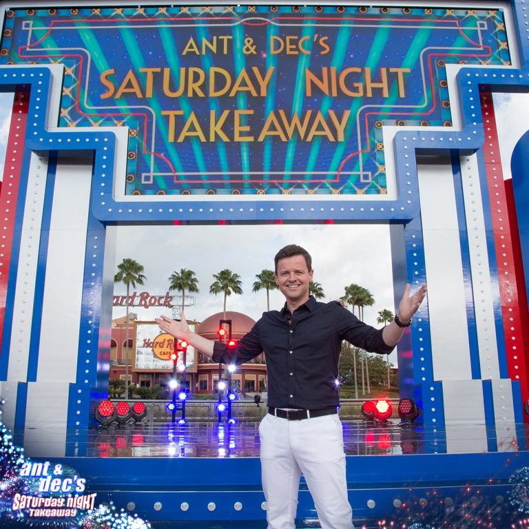 Declan Donnelly asks audience to give applause to Ant McPartlin following Saturday Night Takeaway Orlando finale