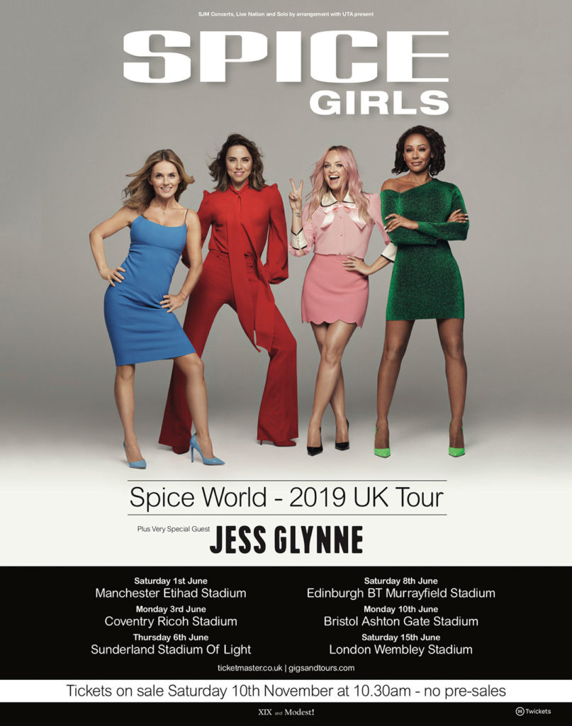 Spice Girls 2019 stadium tour announced! UK dates, tickets ...