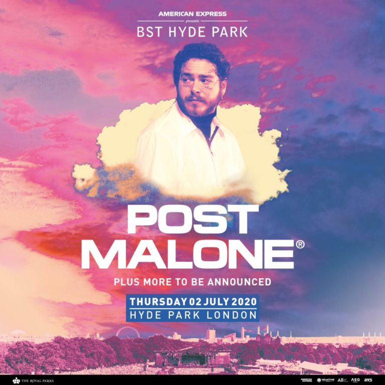 Post Malone confirmed to headline BST Hyde Park 2020